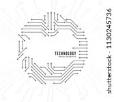 abstract technology background. ... | Shutterstock .eps vector #1130245736