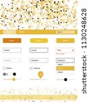dark yellow vector ui kit with...