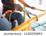 construction worker wearing... | Shutterstock . vector #1130250893