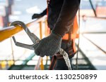 construction worker wearing... | Shutterstock . vector #1130250899