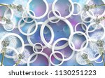 3d wallpaper design with... | Shutterstock . vector #1130251223