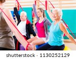 senior people at fitness course ...   Shutterstock . vector #1130252129