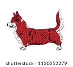 corgi of wine color is in the... | Shutterstock .eps vector #1130252279