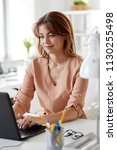business  technology and people ...   Shutterstock . vector #1130255498