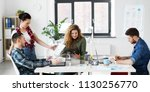 business  technology and people ... | Shutterstock . vector #1130256770