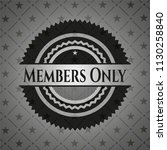 members only realistic dark... | Shutterstock .eps vector #1130258840