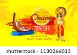 happy onam with creative... | Shutterstock .eps vector #1130266013