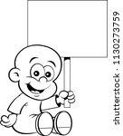 black and white illustration of ... | Shutterstock .eps vector #1130273759