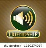 golden emblem or badge with...   Shutterstock .eps vector #1130274014