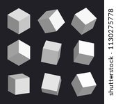 3d cubes vector box square... | Shutterstock .eps vector #1130275778