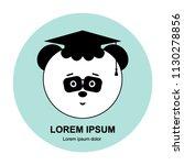 panda head in magister degree... | Shutterstock .eps vector #1130278856