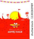 vector illustration of happy... | Shutterstock .eps vector #1130283989