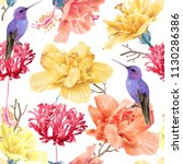vector tropical seamless... | Shutterstock .eps vector #1130286386