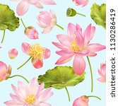 vector botanical seamless... | Shutterstock .eps vector #1130286419