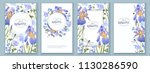 botanical banners with blue...   Shutterstock . vector #1130286590