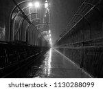 the bridge pathway  black and... | Shutterstock . vector #1130288099