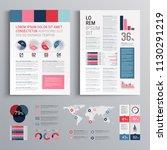 business brochure template... | Shutterstock .eps vector #1130291219