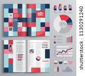 business brochure template... | Shutterstock .eps vector #1130291240