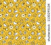 brainstorm vector seamless... | Shutterstock .eps vector #1130295134