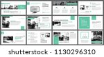 green presentation templates... | Shutterstock .eps vector #1130296310