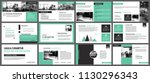 green presentation templates... | Shutterstock .eps vector #1130296343
