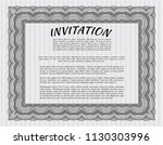grey retro invitation template. ... | Shutterstock .eps vector #1130303996