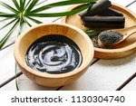 facial mask and scrub by... | Shutterstock . vector #1130304740
