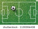 soccer football ball on green... | Shutterstock .eps vector #1130306438