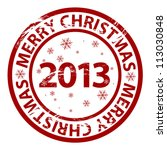 vector merry christmas 2013...