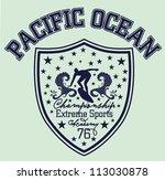 pacific ocean | Shutterstock .eps vector #113030878