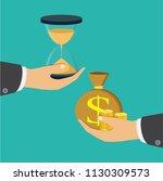 time is money concept.... | Shutterstock .eps vector #1130309573