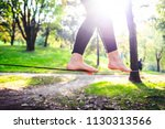 middle section human feet... | Shutterstock . vector #1130313566