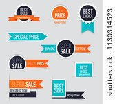 set of sale banner collection ... | Shutterstock .eps vector #1130314523