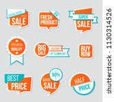 set of sale banner collection ...   Shutterstock .eps vector #1130314526