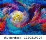 blooming flower in foam of...   Shutterstock . vector #1130319329