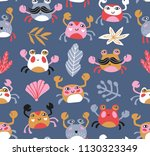 bright baby fabric design with... | Shutterstock .eps vector #1130323349