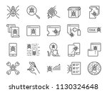 qa and bug fix icon set.... | Shutterstock .eps vector #1130324648