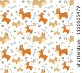 vector seamless pattern with... | Shutterstock .eps vector #1130325479