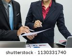 teamwork concept. business team ... | Shutterstock . vector #1130331740