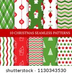 ten xmas different seamless... | Shutterstock .eps vector #1130343530