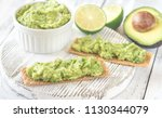 sandwiches with guacamole | Shutterstock . vector #1130344079