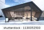 front view cafe shop  ... | Shutterstock . vector #1130352503