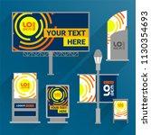 blue outdoor advertising design ...   Shutterstock .eps vector #1130354693