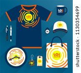 blue promotional souvenirs...   Shutterstock .eps vector #1130354699