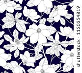 seamless pattern with magnolia... | Shutterstock .eps vector #1130354819