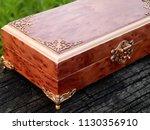 box of mahogany wawona handmade ... | Shutterstock . vector #1130356910
