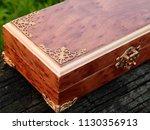 box of mahogany wawona handmade ... | Shutterstock . vector #1130356913