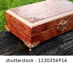 box of mahogany wawona handmade ... | Shutterstock . vector #1130356916