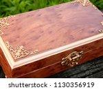 box of mahogany wawona handmade ... | Shutterstock . vector #1130356919