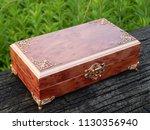 box of mahogany wawona handmade ... | Shutterstock . vector #1130356940